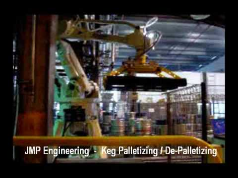 Robotic Palletiser and Depalletisers for Kegs
