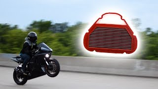 9. FASTER Motorcycle with Race Air Filter?