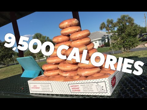 Watch this woman eat 50 Krispy Kreme donuts!