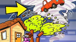 Minecraft: ESCAPE THE DISASTERS!!! (REAL TORNADOES & FLOODS) Modded Mini-Game