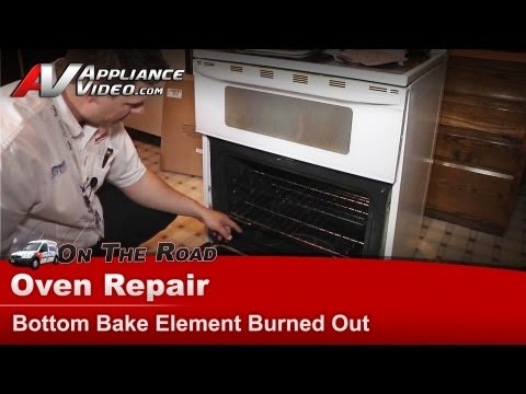 Maytag Oven Repair – Bottom Bake Element Burned Out – MER6772BAW