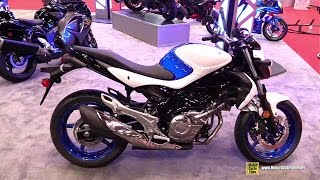 10. 2015 Suzuki SFV 650 - Walkaround - 2014 New York Motorcycle Show