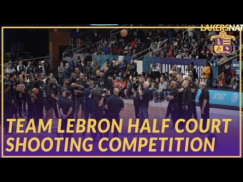 Video: 2019 NBA All-Star: Team LeBron Half Court Shooting Competition