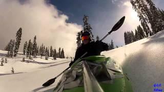 Alternatywa dla nart i snowbordu. Kajakiem w góry :)