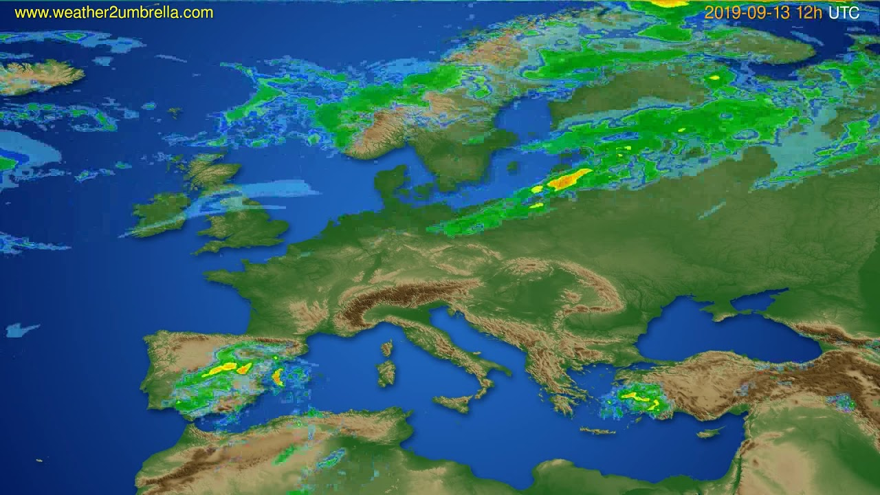 Radar forecast Europe // modelrun: 00h UTC 2019-09-13
