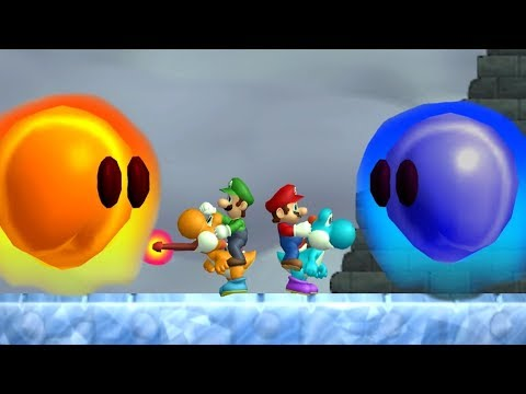 Newer Super Mario Bros Wii - All Bosses (2 Player) (видео)