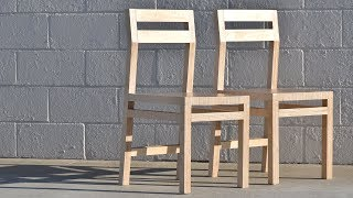 Diy Modern Plywood Chair   How To Make Two Chairs From One Sheet    Rocklerplywoodchallenge