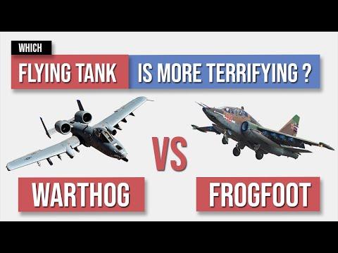 A10 Warthog vs SU25 Frogfoot - Flying Tank Comparison