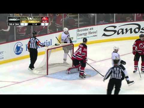 2.9.13 - New Jersey Devils Vs. Pittsburgh Penguins - 4 Brodeur Save On Malkin