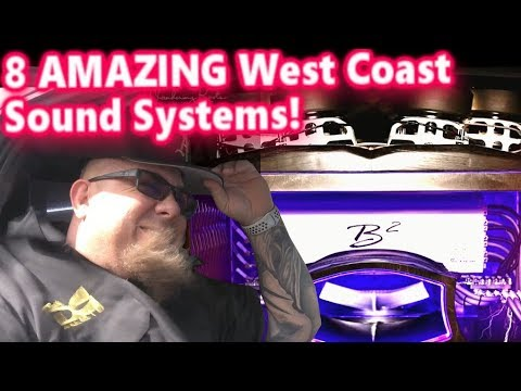 8 Amazing West Coast Car Audio Sound Systems! Clean Installs, Crazy Bass!