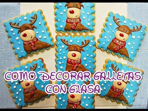 Como decorar galletas con glasa