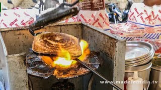 CHEESE MASALA TOAST SANDWICH MAKING | STREET FOODS 2018