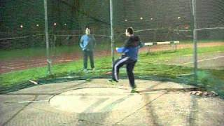 Zane Duquemin 2kg Discus Throw Training