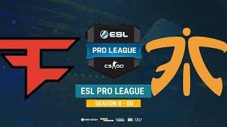 FaZe vs Fnatic - ESL Pro League S8 EU - bo1 - de_mirage [CrystalMay, Anishared]
