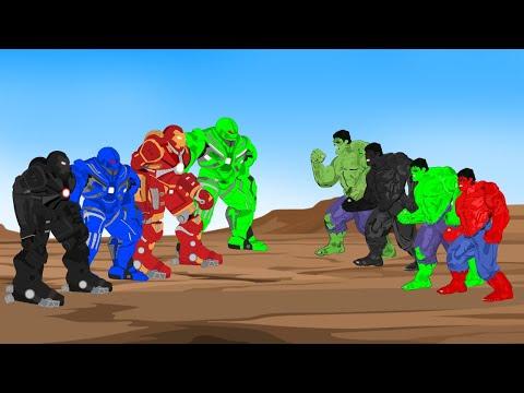 Color Team Hulk vs Color Team Hulk Buster [HD] | SUPER HEROES MOVIE ANIMATION