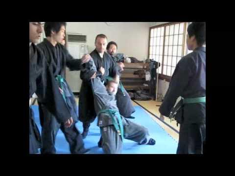 京都 古武道 戸隠流 忍法 護身術レッスン NINJUTSU IN JAPAN-TOGAKURE RYU NINPO 2