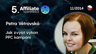 Foto z akcie Affiliate konference prednáša Petra Větrovská.