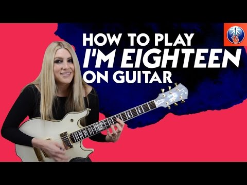 How to Play I'm Eighteen on Guitar - Alice Cooper Song Lesson