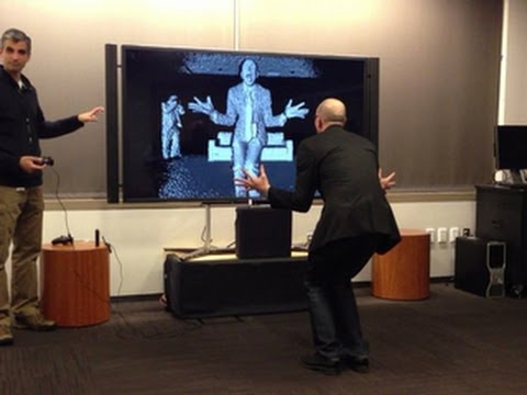 kinect - http://cnet.co/184KuIM Kareem Choudhry, development manager for Microsoft's Kinect, shows off new ways the Xbox One will track the user's body, including inf...