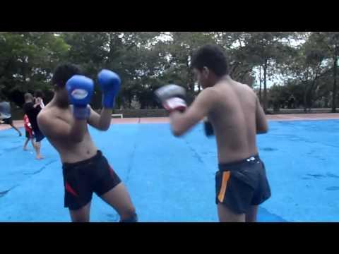 Muay Thai light sparring