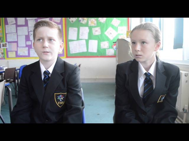 FHS Year 7 talk about their first week. September 2016