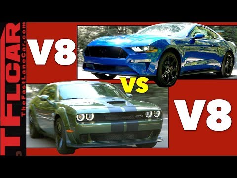 Fast Vs Faster: Ford Mustang Gt Vs Challenger Hellcat Mashup Review