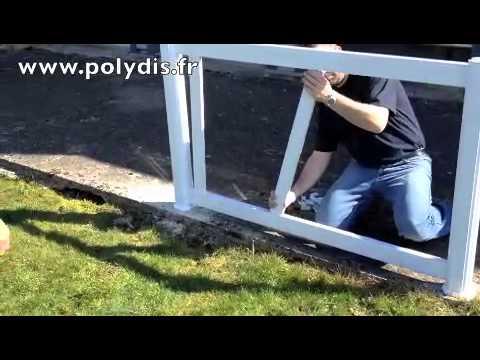 comment construire une cloture en pvc