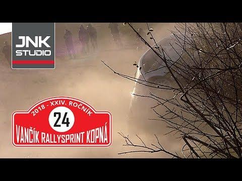 XXIV. Vančík Rallysprint Kopná 2018 - Shakedown (crash & action)