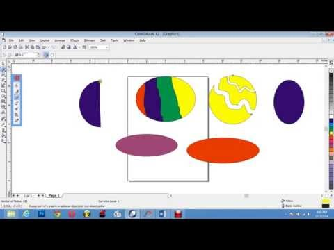 Corel Draw 12 Shape Tool Work