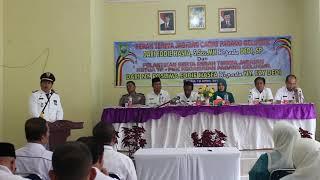 Ucapan dan Kata perpisahan dari Camat Kecamatan Padang Gelugur EDDIE HASFA S Sos MH yang dihadiri Sekda Pasaman Drs. H. Mara Ondak