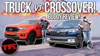 Honda Ridgeline Surprises When Compared Against a Ford Ranger FX4 in this Comprehensive Buddy Review by The Fast Lane Truck