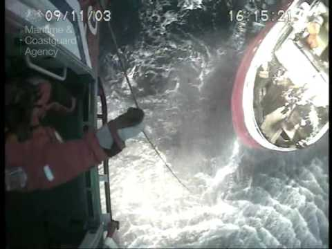 UK Coastguard helicopter's 180-mile mission to save injured seafarer