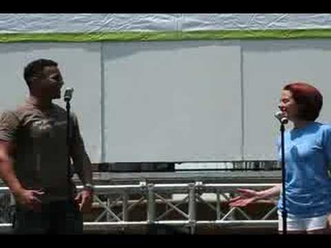 CarlitoPucl - Broadway in Bryant Park 2008! Watch in High Quality! Chris Jackson and Janet Dacal sing