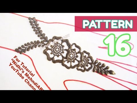 Video Pattern 16-Henna Designs Using Two Floral Elements- Easy DIY Mehndi Tips for Beginners download in MP3, 3GP, MP4, WEBM, AVI, FLV January 2017