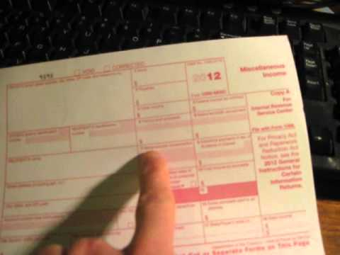 How to fill out an IRS 1099-MISC Tax Form