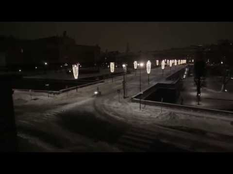 Crazy snowmobile ride in Stockholm (SWEDEN)