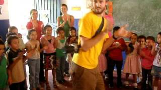 Joe Entertaining El Salvador Village Kids With His Dancing
