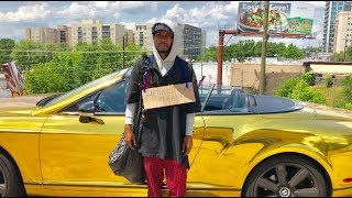 Video HOMELESS in GOLD BENTLEY Gold Digger Prank Social Experiment MP3, 3GP, MP4, WEBM, AVI, FLV Juni 2019