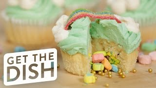 Surprise-Inside Lucky Charms Cupcakes | Get the Dish by POPSUGAR Food