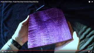 Purple Wood Dye - Vivid Purple Wood Stain Using Keda Wood Dyes - Wood Stain Colors Formula