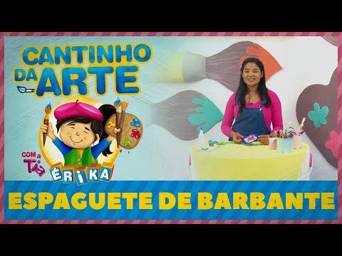 ESPAGUETE DE BARBANTE | Cantinho da Arte com a Tia Érika