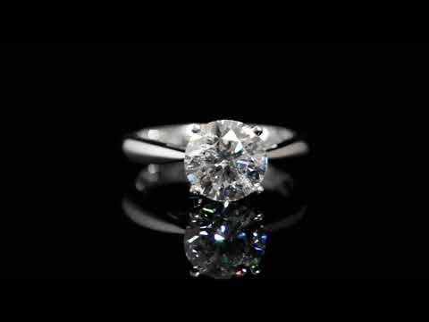 IGI Certified 2.23ct Round Brilliant Cut Diamond Ring
