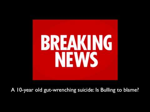 danewz1 - 10 year old gut wrenching suicide bullying blame.