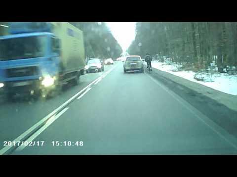 Agresja drogowa na rowerzyście