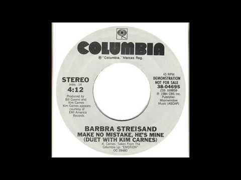 , title : 'Barbra Streisand - Make No Mistake, He's Mine (Duet with Kim Carnes)'