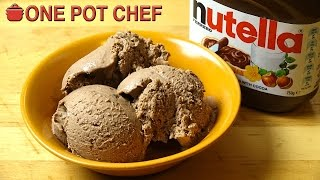 """Super Simple Nutella Ice Cream is a decadent frozen treat that anyone can make! No complicated recipes. No expensive ice cream machines. Just some cream, and hand mixer and of course, some rich, sweet Nutella! Quick to whip up and ready to serve in a few hours, you're going to love this so much - give it a try today!Ingredients:600ml of Whipping Cream (any cream suitable for whipping)1 Teaspoon of Vanilla Extract1/2 a Can of Sweetened Condensed Milk (about 200g)1 Cup of Nutella (Chocolate Hazelnut Spread)Preparation Time: About 10 minutesFreezing Time: About 3 to 6 hours approx.MAKES APPROX. 1.5 LITRES OF ICE CREAMSubscribe to One Pot Chef (it's free!):http://bit.ly/SubOPCONE POT CHEF COOKBOOKS - PAPERBACKS AND EBOOKS:http://www.lulu.com/spotlight/onepotchefONE POT CHEF COOKBOOKS ON iTUNES BOOKSTORE:http://itunes.apple.com/au/artist/dav...ONE POT CHEF APRONS + T-SHIRTS NOW AVAILABLE!http://shop.studio71us.com/collection...Filmed in 4K using the Sony FDRAX100 Video Camera - Check it out here:https://goo.gl/iHLnHPFollow me on Social Media:Twitter:http://www.twitter.com/onepotchefFacebook:http://www.facebook.com/onepotchefInstagram: http://www.instagram.com/onepotchefshowMusic Credits:""""Bright Wish""""by Kevin MacLeodhttp://incompetech.comRoyalty Free Music - Used with Permission under Creative Commons license."""
