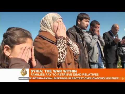 Syrian families pay to retrieve fallen relatives