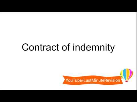 Contact Of Indemnity
