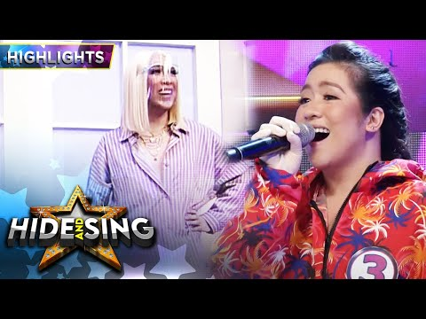 Vice gets shocked seeing Angeline as the celebrity singer | It's Showtime Hide And Sing