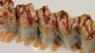 How To Make Volcano Roll Sushi - YouTube